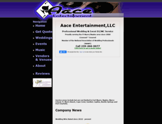 aaceentertainment.com screenshot