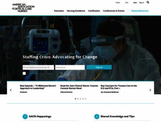 aacn.org screenshot