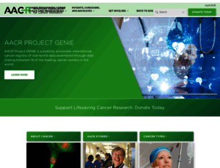 aacr.org screenshot