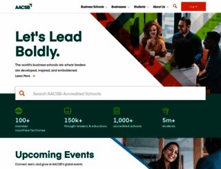 aacsb.edu screenshot