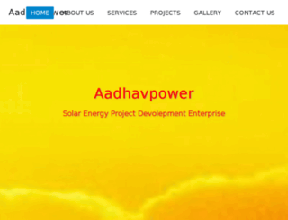 aadhavpower.com screenshot