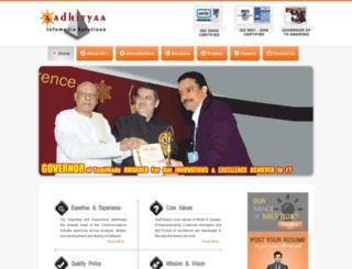 aadhityaa.com screenshot