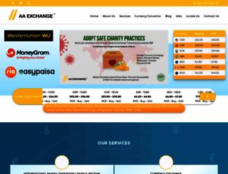 aaexchange.com.pk screenshot