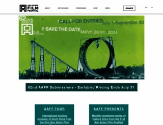 aafilmfest.org screenshot
