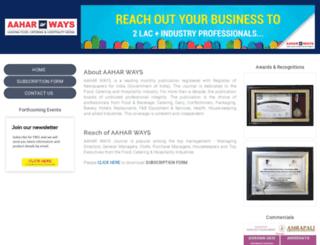 aaharways.com screenshot