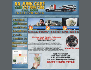 aajunkcars.com screenshot