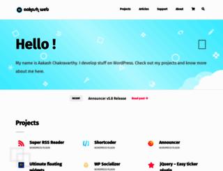 aakashweb.com screenshot