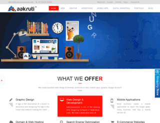 aakrutisolutions.com screenshot