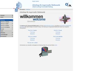 aam.uni-freiburg.de screenshot