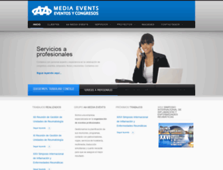 aamediaevents.es screenshot