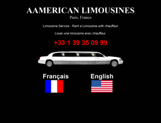 aamericanlimousines.com screenshot