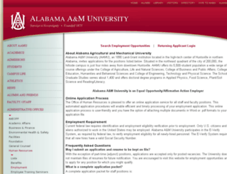 aamu.interviewexchange.com screenshot