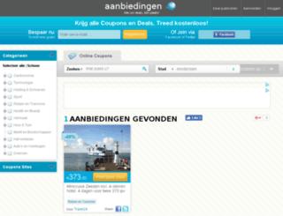 aanbiedingen.com.nl screenshot