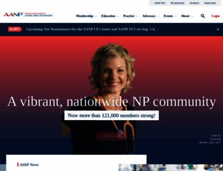 aanp.org screenshot