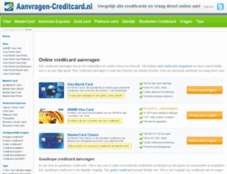aanvragen-creditcard.nl screenshot