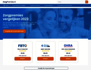 aanvullendezorgverzekering.nl screenshot