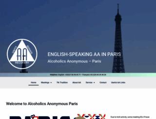 aaparis.org screenshot