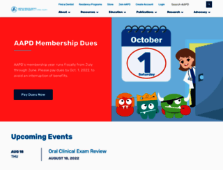 aapd.org screenshot
