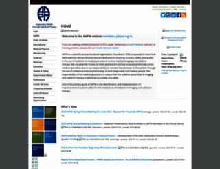 aapm.org screenshot