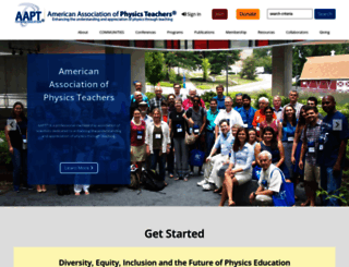 aapt.org screenshot