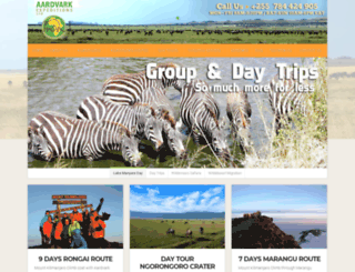 aardvark-expeditions.com screenshot