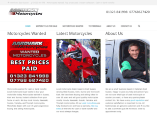 aardvarkmotorcycles.co.uk screenshot