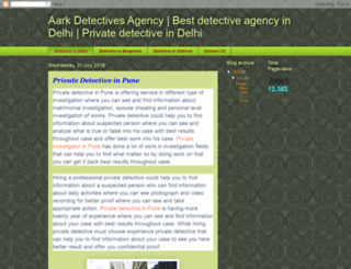 aarkdetectivesagency.blogspot.in screenshot