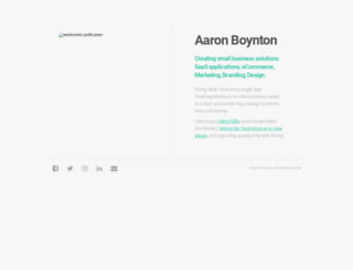 aaronboynton.com screenshot