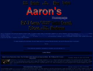 aaroncake.net screenshot