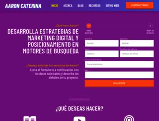 aaroncaterina.com screenshot