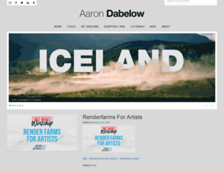 aarondabelow.com screenshot
