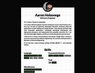 aarongloege.com screenshot