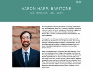 aaronharp.com screenshot