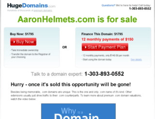 aaronhelmets.com screenshot