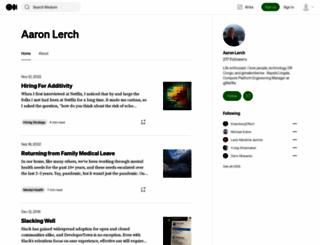 aaronlerch.com screenshot