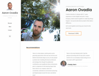aaronovadia.com screenshot