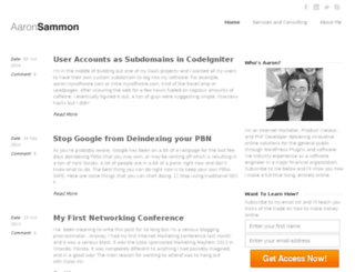 aaronsammon.com screenshot