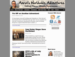aaronswwadventures.com screenshot