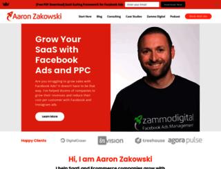 aaronzakowski.com screenshot