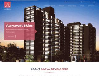 aaryadevelopers.in screenshot