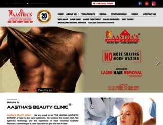 aasthabeauty.com screenshot