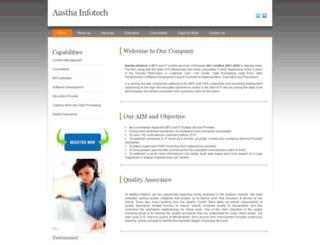 aasthainfotech.net screenshot