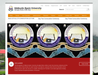 aaua.edu.ng screenshot