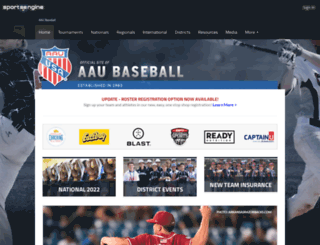 aaubaseball.org screenshot