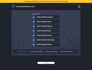 aaufootballmetro.com screenshot