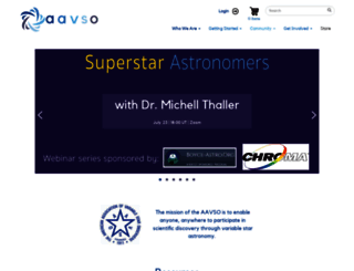 aavso.org screenshot