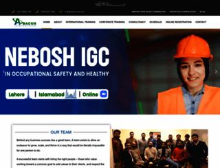 abacus-int.com screenshot