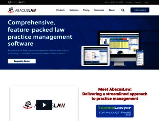 abacuslaw.com screenshot