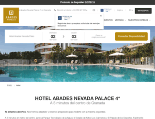 abadesnevadapalace.com screenshot