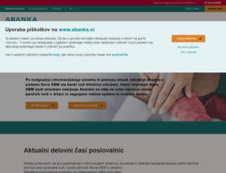 abanka.si screenshot